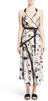 Proenza Schouler Asymmetrical Floral Print Silk Georgette Dress