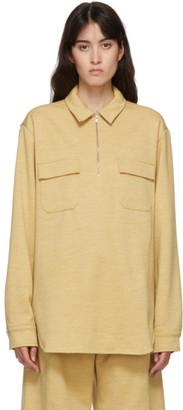 Jil Sander Yellow Wool Newbury Shirt