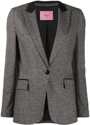 Twin-Set Fitted Single-Breasted Blazer