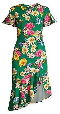 Black Halo Women's Breelle Garden Asymmetrical Ruffle Dress