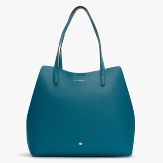 Lulu Guinness Ivy Emerald Leather Tote Bag