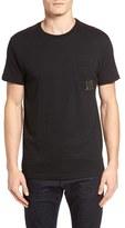 RVCA Men's Letterpress Graphic Pocket T-Shirt