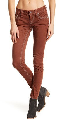 Rock Revival Roselle Metallic Stitch Skinny Jeans