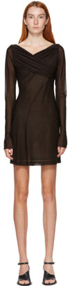 Nensi Dojaka SSENSE Exclusive Brown Draped Dress