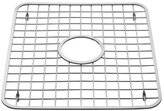 InterDesign Sink Grid with Hole, Polished Stainless Steel, 12.75x11 inches