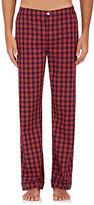 Sleepy Jones Men's Marcel Checked Cotton Pajama Pants-NAVY