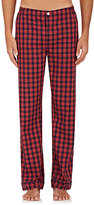 Sleepy Jones Men's Marcel Checked Cotton Pajama Pants