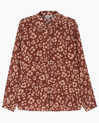 Lily & Lionel Beth Shirt Floral Leopard Mahogany - S