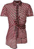 Versace asymmetric patterned shirt
