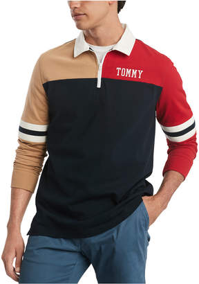 Tommy Hilfiger Men Hale Colorblock Long Sleeve Polo Rugby Shirt