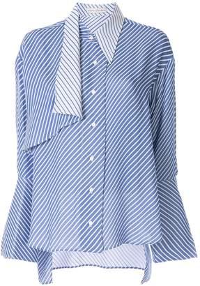 Palmer Harding Palmer / Harding flared cuff striped shirt