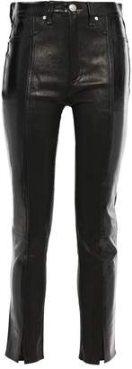 Rag & Bone Evelyn Cropped Crinkled Patent-leather Skinny Pants