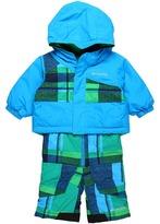 Columbia Kids - Snow Slush Reversible Set (Infant) (Compass Blue/Fuse Green) - Apparel
