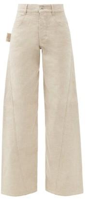 Bottega Veneta Twisted-seam Wide-leg Jeans - Ivory