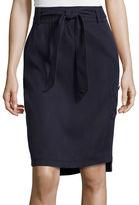 Liz Claiborne Pull-On Cargo Skirt with Belt - Tall