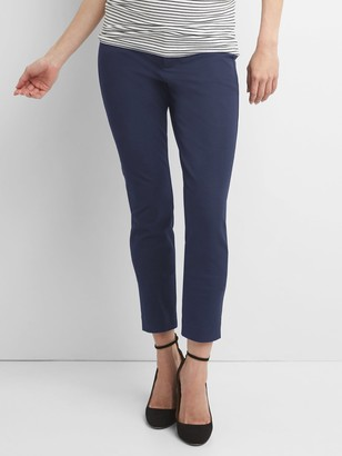 Gap Maternity Inset Panel Skinny Ankle Pants in Bi-Stretch