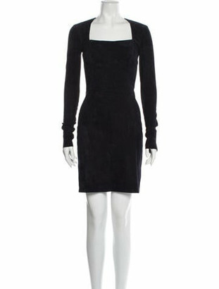 Jitrois Square Neckline Mini Dress Blue