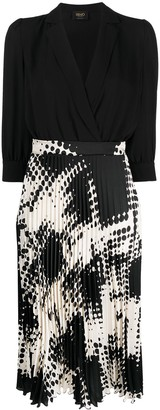 Liu Jo Pleated-Skirt Wrap Dress