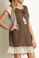 Umgee USA Mocha Lace Tunic