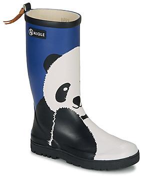 Aigle WOODY POP FUN girls's Wellington Boots in Blue
