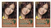Clairol Natural Instincts Hair Color, 4RV Egyptian (Plum Burgundy Brown) 1 Kit (Pack of 3)