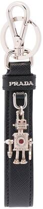 Prada Saffiano Leather Keychain
