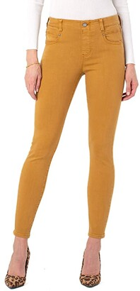 Liverpool Gia Glider Ankle Skinny Pull-On Jeans in Honey (Honey) Women's Jeans