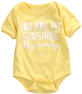 Lily.Pie YOU ARE MY SUNSHINE Baby Infant Cotton Bodysuits Newborn Rompers Overalls (6-12 M)