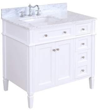 "Kitchen Bath Collection Hailey 36"" Single Bathroom Vanity Set Kitchen Bath Collection Base Finish: White"