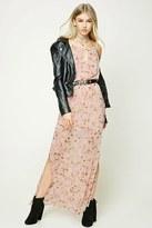 Forever 21 FOREVER 21+ Floral Print M-Slit Maxi Dress