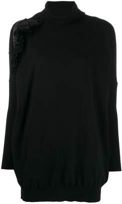 Gina knitted ruffle-embellished jumper dress