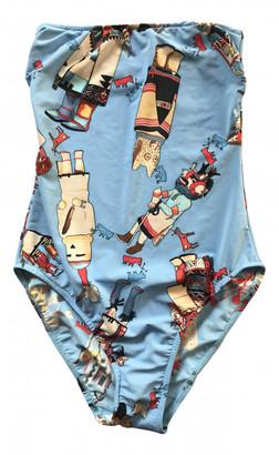 Hermes Blue Polyester Swimwear
