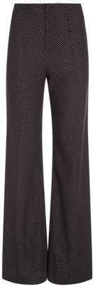 Alice + Olivia Dylan Clean High-Waist Wide-Leg Polka Dot Pants