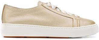 Santoni plain lace-up sneakers