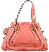 Chloé Python & Leather Small Paraty Bag