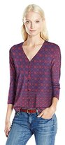 Lucky Brand Women's Placed Print Top in Multi