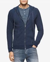 Calvin Klein Jeans Men's Jacquard Pique Full-Zip Hoodie