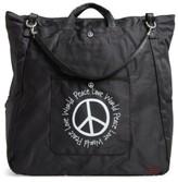 Peace Love World Nylon Tote - Black