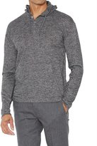 John Varvatos Men's Long Sleeve Henley Hoodie - Black/White