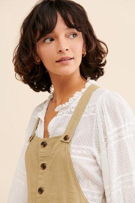 Urban Outfitters Boho Linen Short Overalls