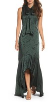 Shoshanna Women's Mayburn Jacquard High/low Gown