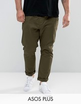 Asos Plus Skinny Chinos In Khaki