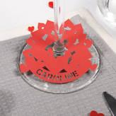 Urban Twist Personalised Multi Heart Wine Glass Place Card