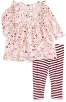 Nordstrom Infant Girl's Flutter Sleeve Dress & Leggings Set
