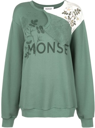 Monse flap shoulder Botanical sweatshirt