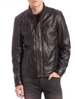 Saks Fifth Avenue Collection Modern Leather Jacket