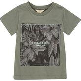 River Island Mini boys khaki 'Noctern' print t-shirt
