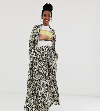 Verona maxi skirt in leopard print