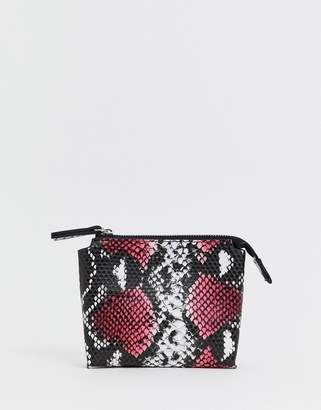 French Connection Lea snake zip ladies' wallet-Pink