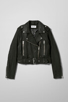 Weekday Tyler Leather Jacket - Black